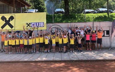 Spiel, Spaß und Training beim Tenniscamp 2021